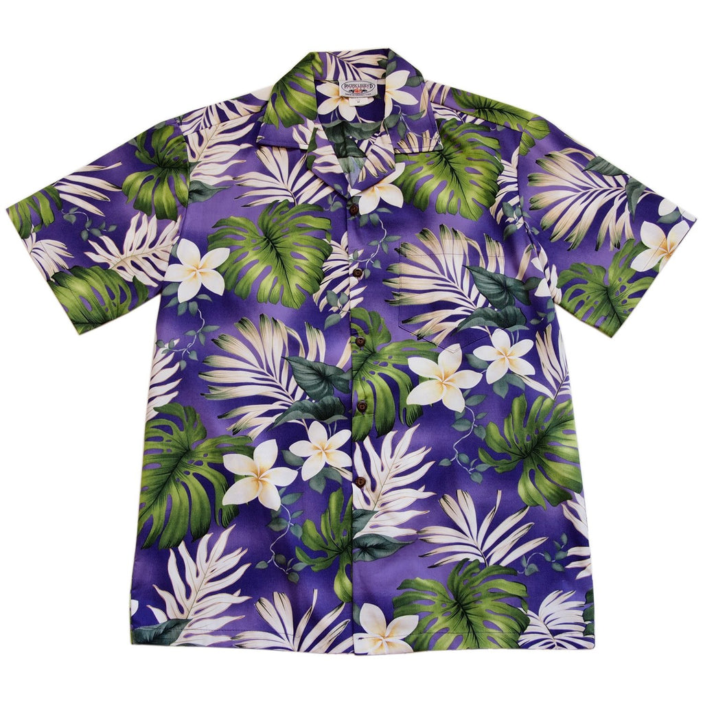 Amazon Purple Hawaiian Cotton Aloha Sport Shirt - PapayaSun