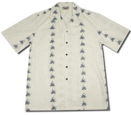 Cabana White Hawaiian Cotton Aloha Sport Shirt - PapayaSun