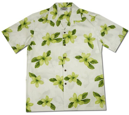 Delight Green Hawaiian Cotton Aloha Sport Shirt - PapayaSun