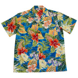 Excite Blue Hawaiian Cotton Aloha Sport Shirt - PapayaSun