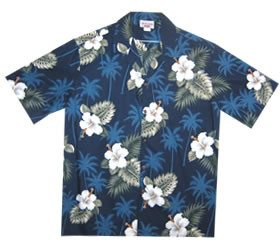 Hibiscus White Hawaiian Boy Cabana Border Shirt & Shorts Set