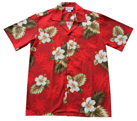Hibiscus White Hawaiian Boy Shirt & Shorts Set