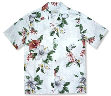 Lumahai White Hawaiian Rayon Aloha Camp Shirt - PapayaSun