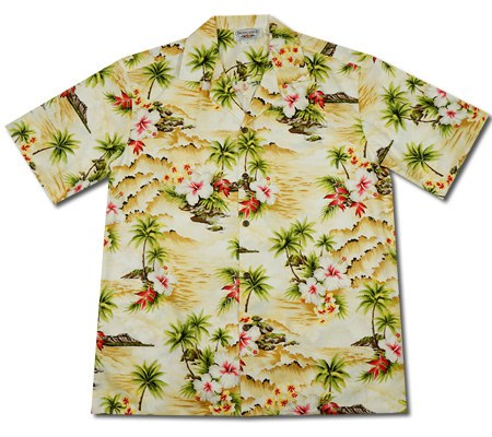 Maize Cream Hawaiian Cotton Aloha Sport Shirt - PapayaSun