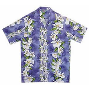 Orchid Purple Hawaiian Cotton Aloha Sport Shirt - PapayaSun