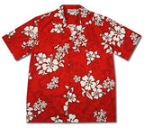 Seastar Red Hawaiian Cotton Aloha Shirt - PapayaSun