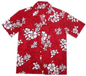Seastar Red Hawaiian Teen Cotton Aloha Shirt - PapayaSun