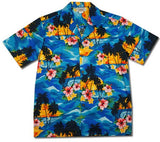 Skyburst Blue Hawaiian Cotton Aloha Shirt - PapayaSun