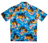 Skyburst Blue Hawaiian Teen Cotton Aloha Shirt - PapayaSun