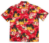 Sunburst Red Hawaiian Teen Cotton Aloha Shirt - PapayaSun