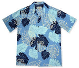 Surfers Blue Hawaiian Rayon Aloha Camp Shirt - PapayaSun