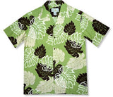 Surfers Green Hawaiian Rayon Aloha Camp Shirt - PapayaSun