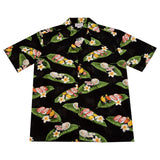 Sushi Black Cotton Hawaiian Shirt