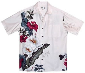 Sweetheart Cream Hawaiian Rayon Aloha Camp Shirt - PapayaSun