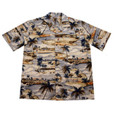 Tee Off Blue Golf Cotton Hawaiian Shirt