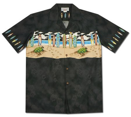 Flamingo White Hawaiian Border Aloha Sport Shirt