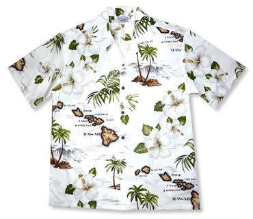 Voyage White Hawaiian Cotton Aloha Shirt - PapayaSun