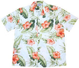 Waimea White Hawaiian Cotton Aloha Shirt - PapayaSun