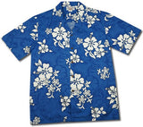 Waves Blue Hawaiian Cotton Aloha Shirt - PapayaSun