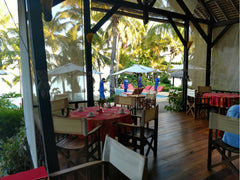 Our dining area in the Vanila Hotel