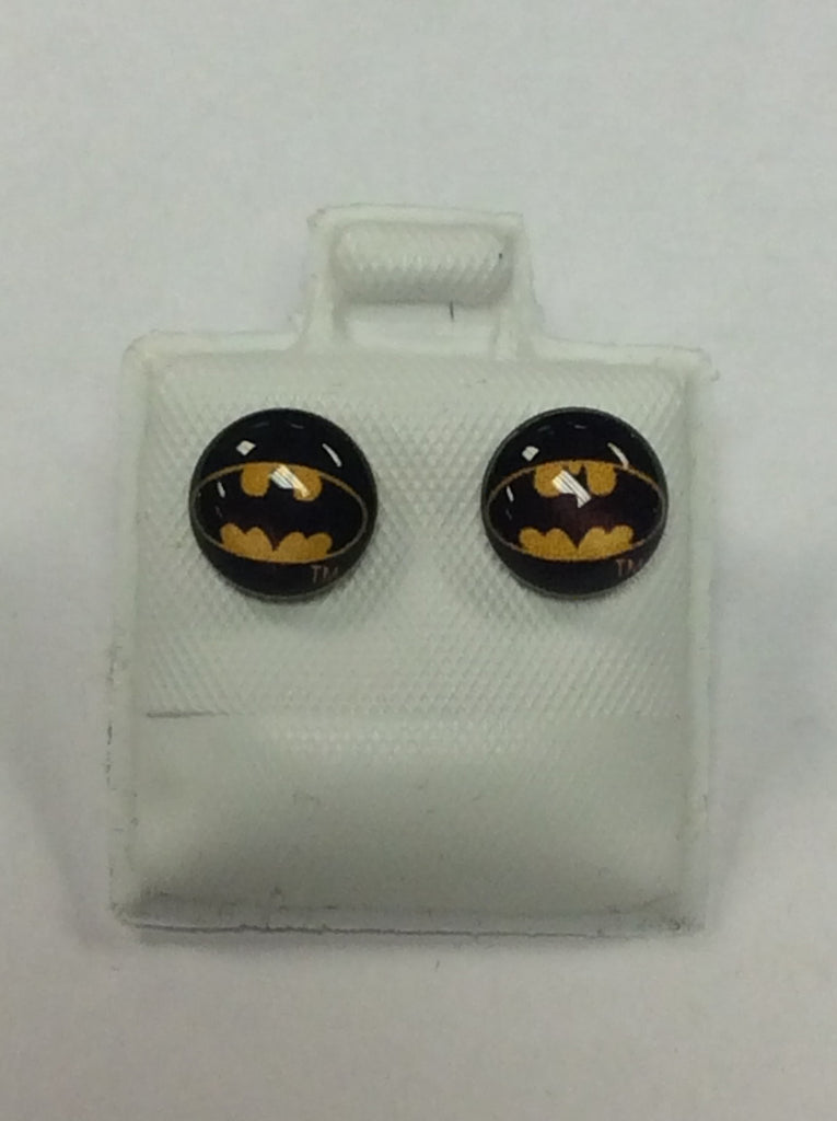 Silver Batman Earrings