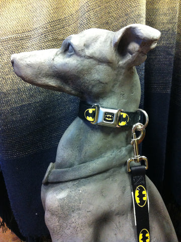 Batman Seat Belt Buckle Adjustable Dog Collar