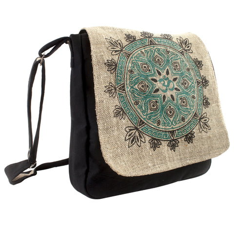 Om Hemp Cross Body Bag