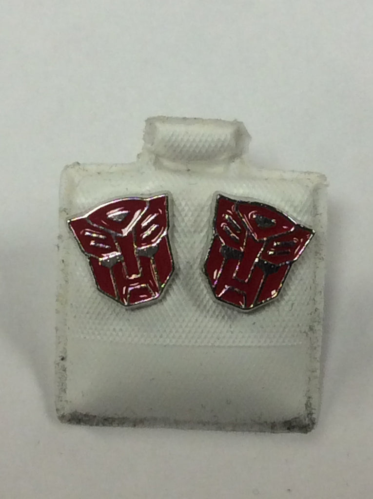 Silver Transformers Earrings