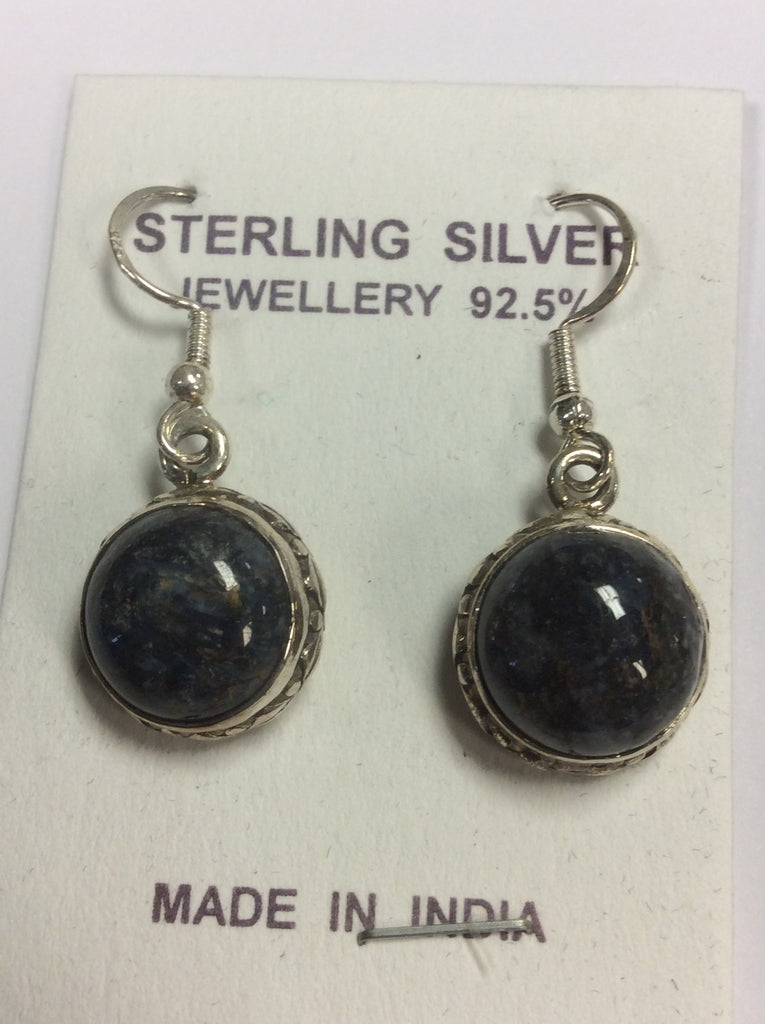 Sterling Lapis Earrings
