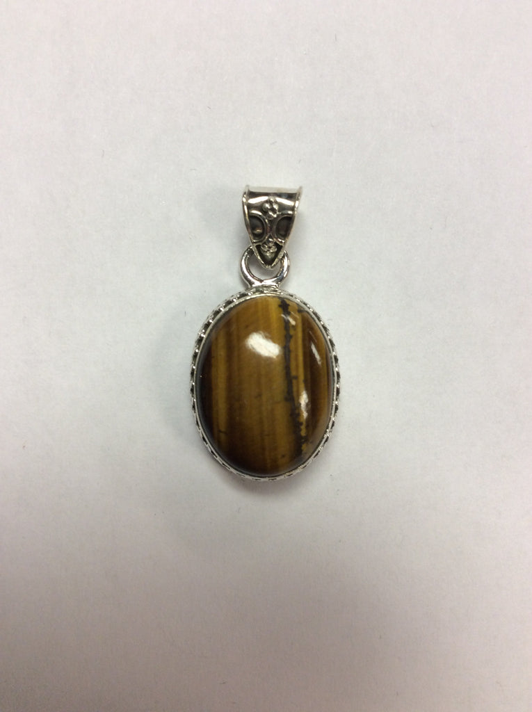 Sterling Pendant Tiger's Eye
