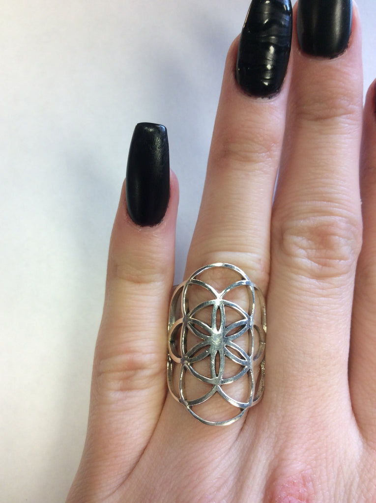 Sterling Sacred Geometry Ring