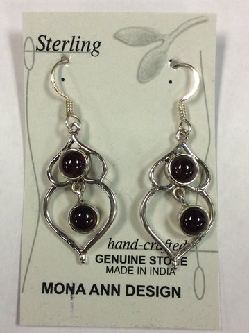 Sterling Garnet Earrings