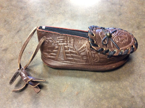 Handmade Leather Shoe Coin Purse