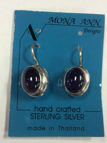 Sterling Amethyst Earrings