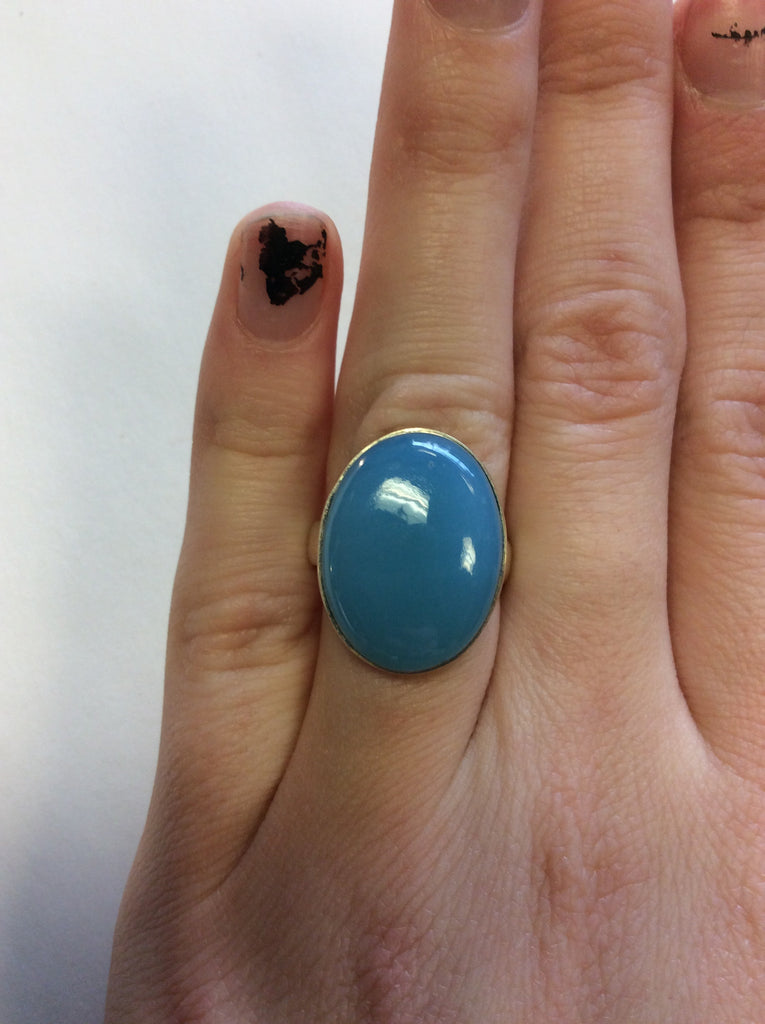 Sterling Chalcedony Ring