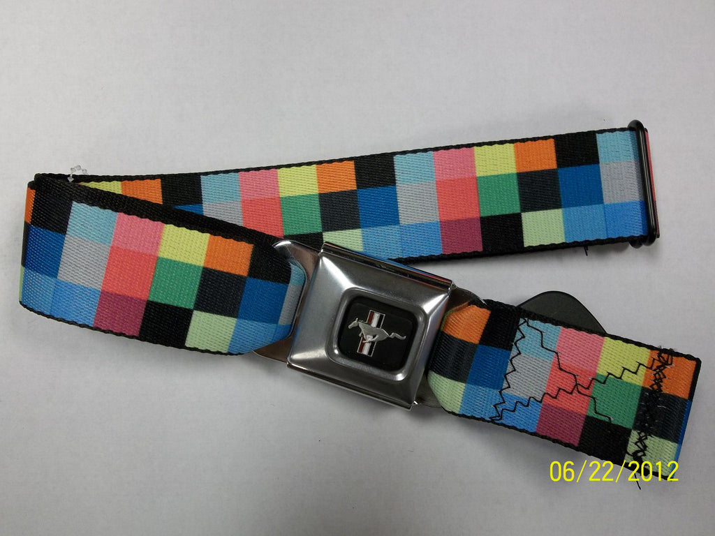 Mustang Checker Seat Belt Belt