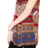 Elephant Sleeveless Kurta