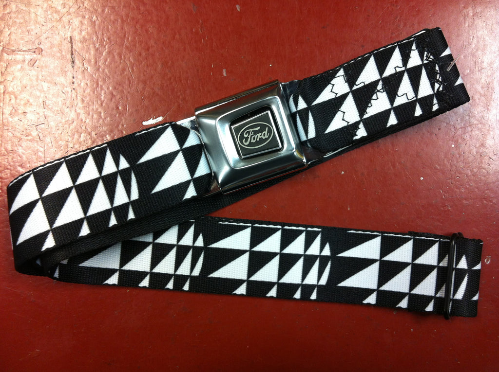 Ford Black and White Seat Belt Belt