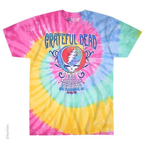Grateful Dead American Music Hall Spiral Tie Dye T-shirt
