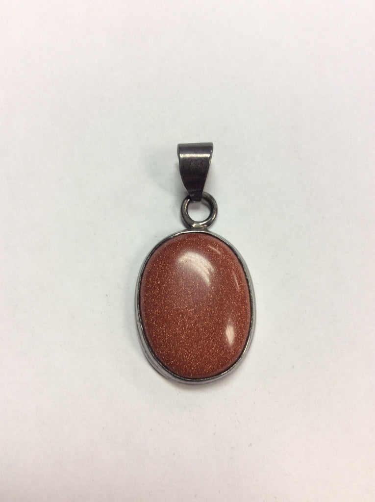 Sterling Pendant Goldstone