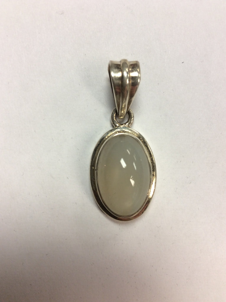 Sterling Pendant White Chalcedony