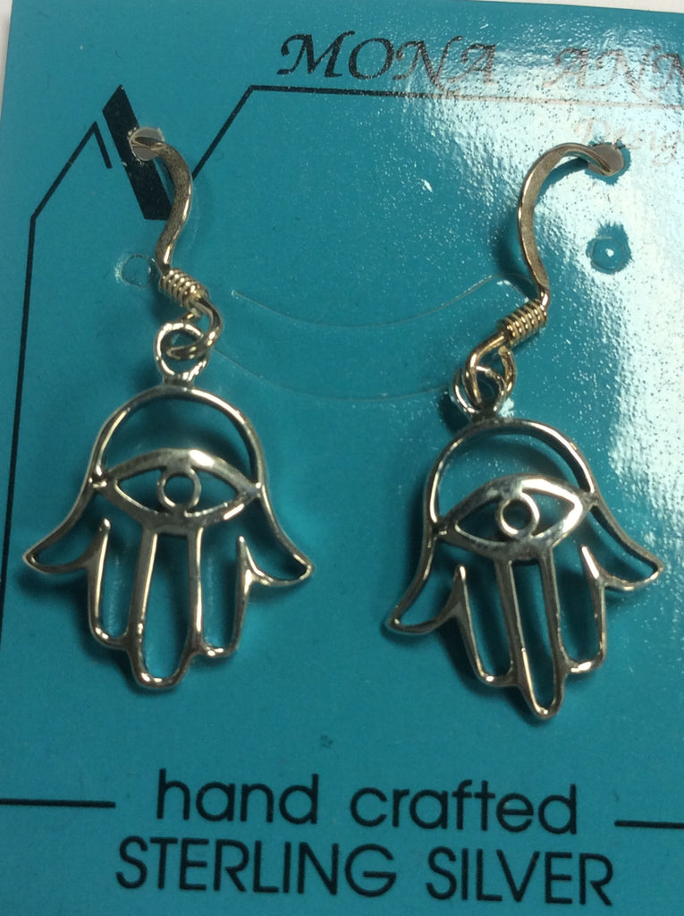 Sterling Hamsa Hand Earrings
