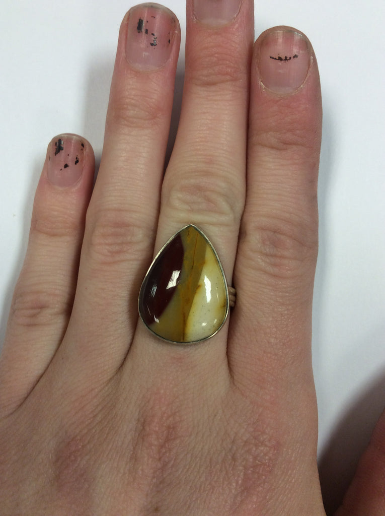 Sterling Mookaite Ring