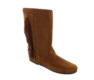 Minnetonka Luna Fringe Boot Dusty Brown