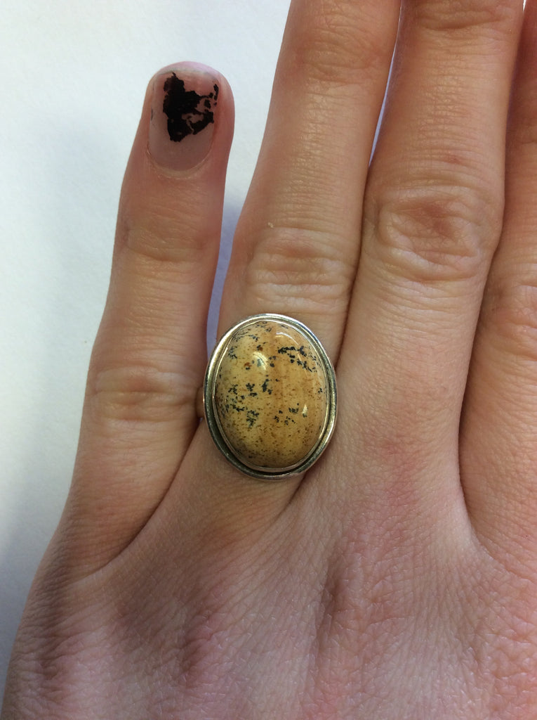 Sterling Picture Jasper Ring