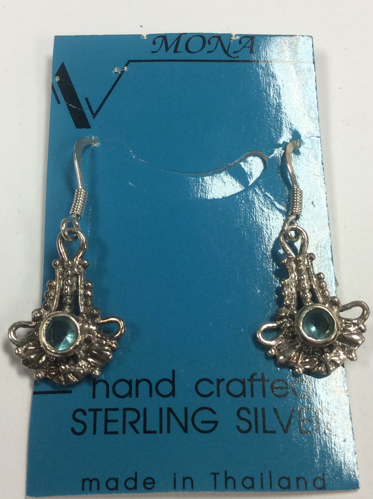 Sterling Aquamarine Earrings