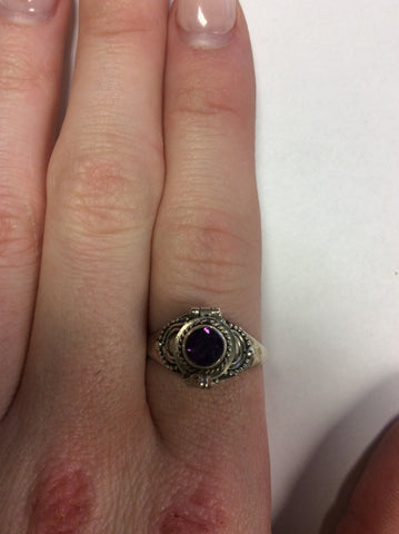 Sterling Amethyst Poison Ring