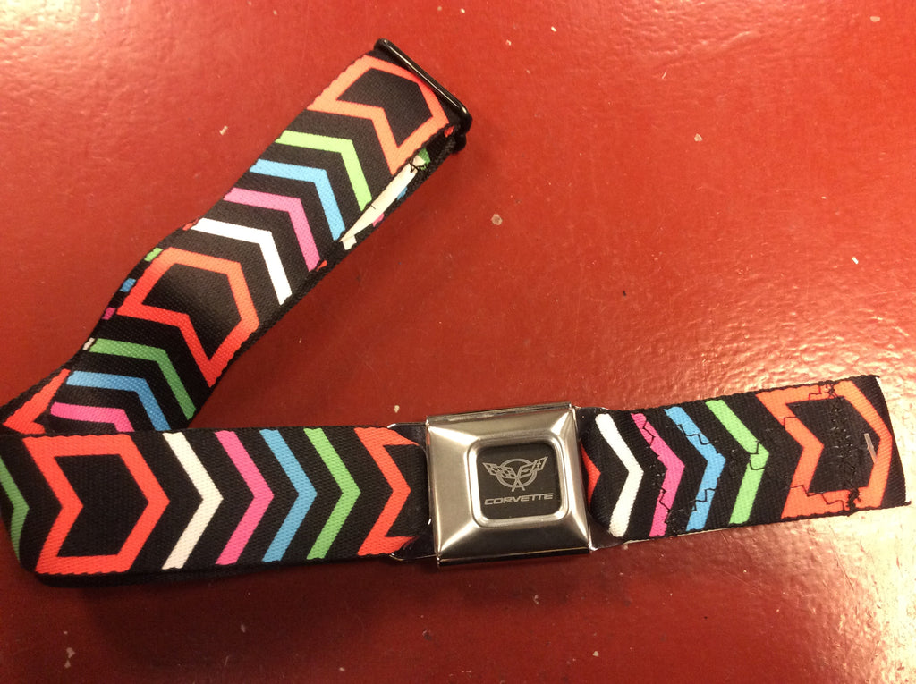 Corvette Multicolored Arrow Seat Belt Belt