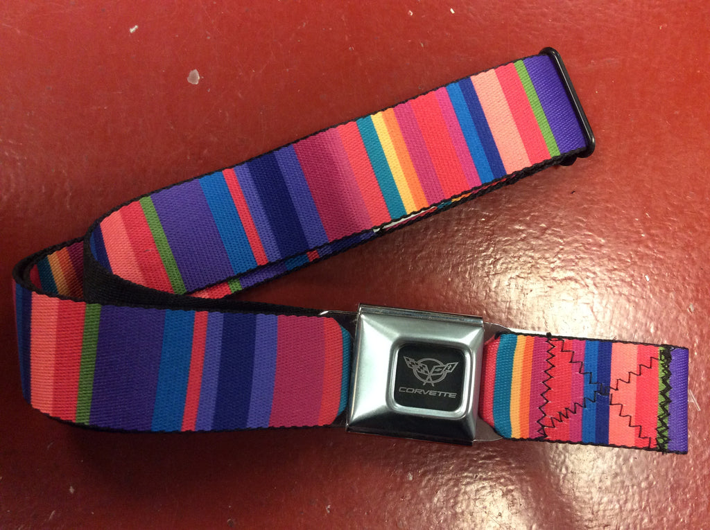 Corvette Multicolored Seat Belt Belt