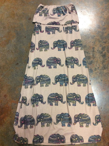 Large Elephant Maxi Skirt